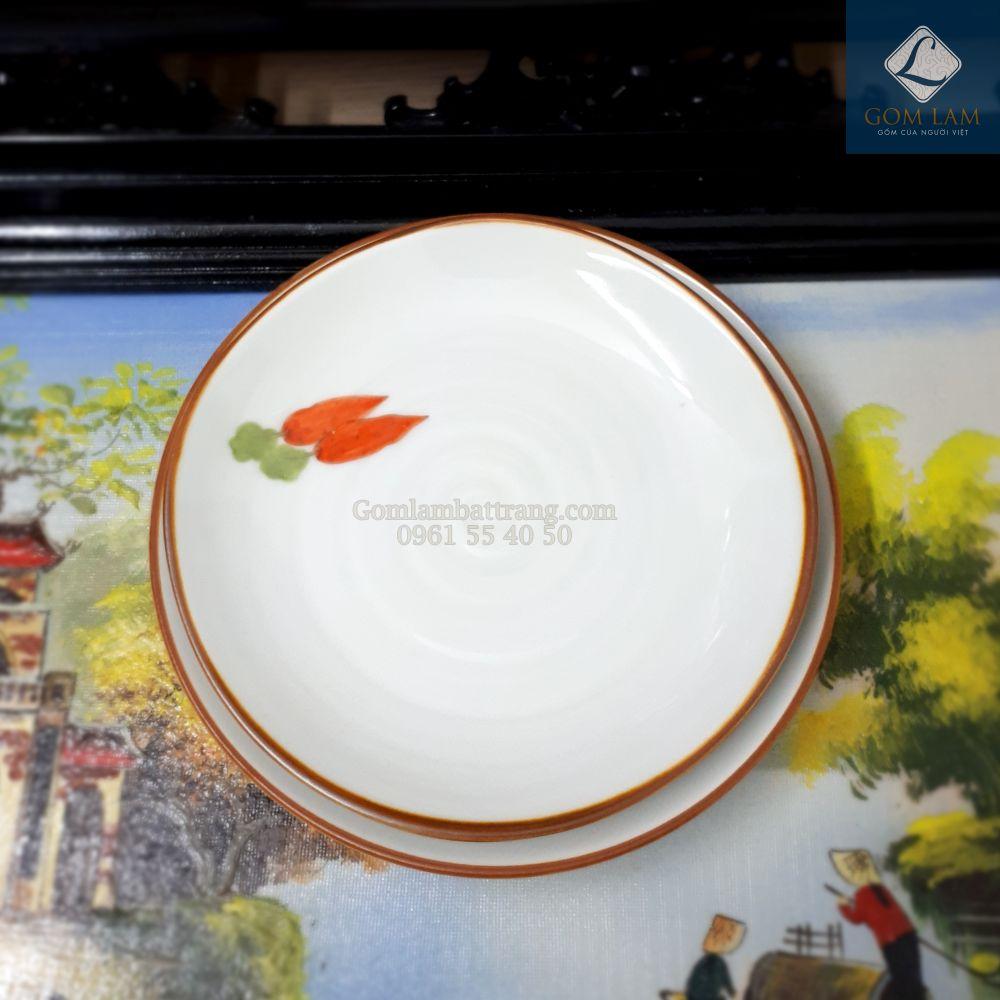 Đĩa tròn vẽ cà rốt phi 16