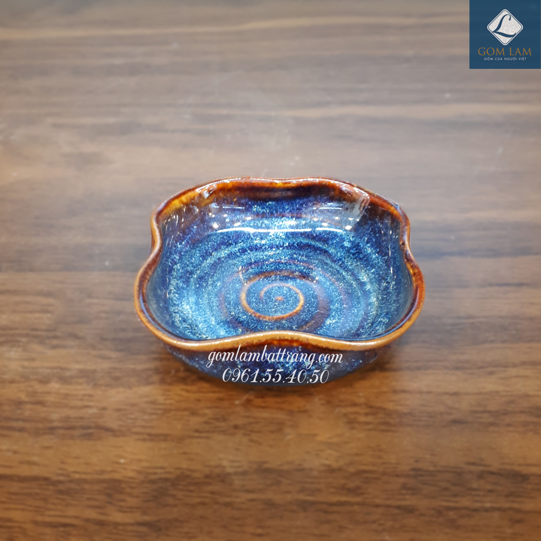 Đĩa muối hoa bé xanh biển 1