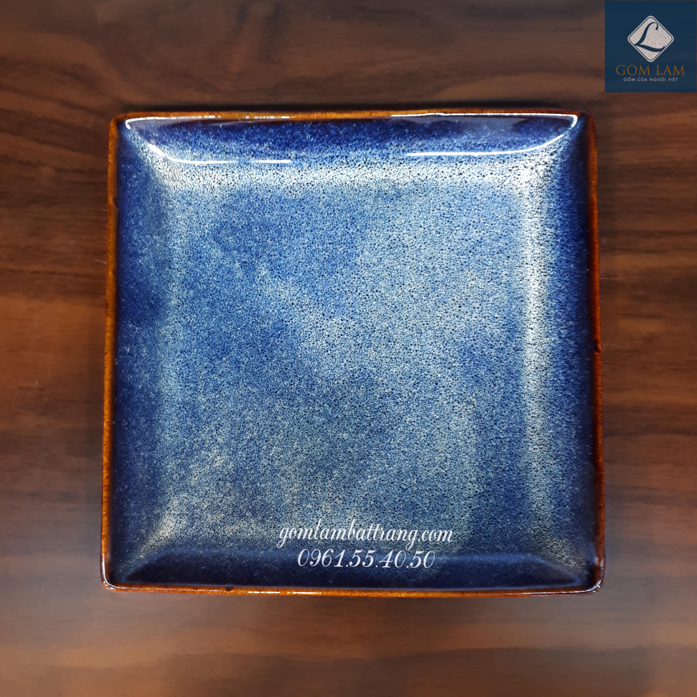 Khay vuông xanh biển S1