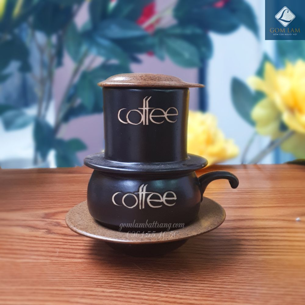 Phin cà phê nâu da lươn
