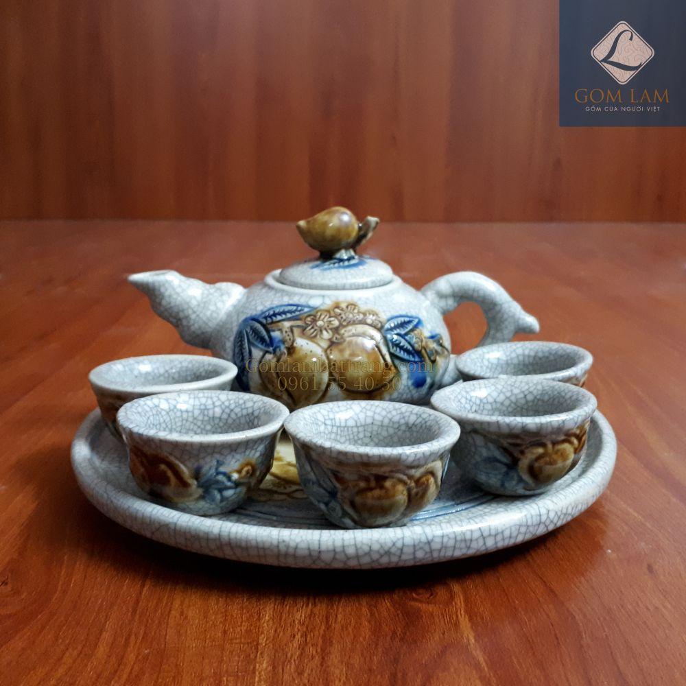 Bộ trà cúng Bát Tràng