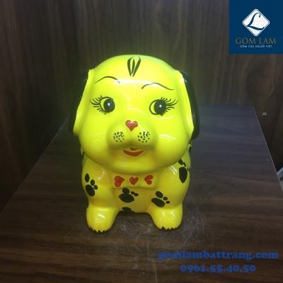 Chó sứ màu vàng