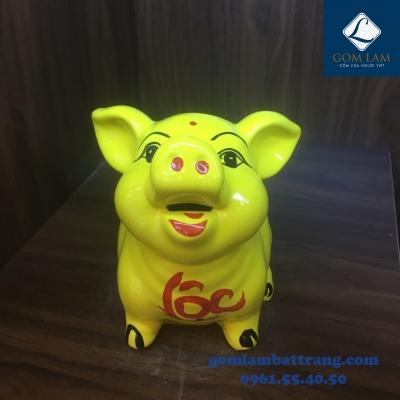 Lợn sứ tai vểnh màu vàng