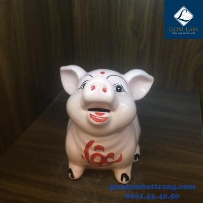 Lợn sứ tai vểnh màu hồng
