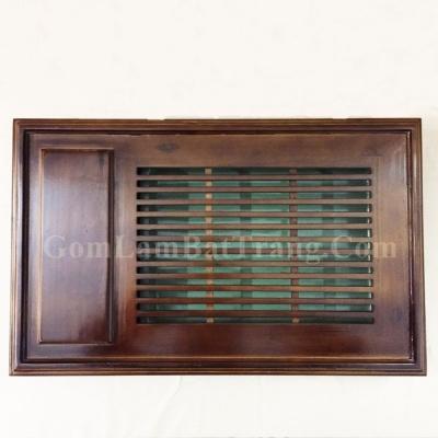 Khay đựng ấm chén gỗ chữ nhật dài