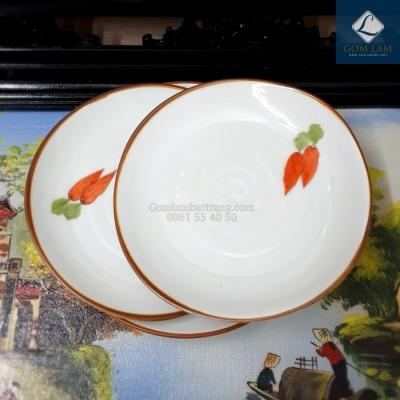 Đĩa tròn vẽ cà rốt phi 22