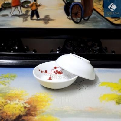 Đĩa gia vị Hoa Đào Nâu Nhật