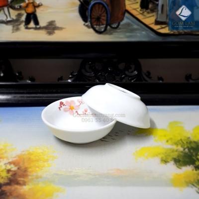 Đĩa gia vị Hoa Đào Tết
