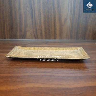 Khay nâu gốm dài 26cm