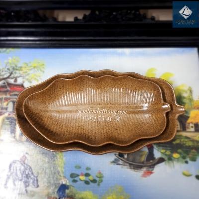 Đĩa chuối men da lươn S2