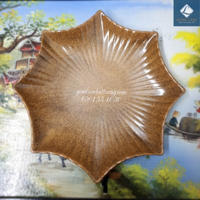 Đĩa sao men da lươn