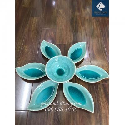 SET bát đĩa hoa 7 món men ngọc số 5