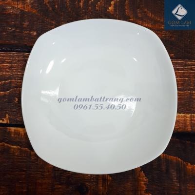 Đĩa ảo sứ trắng cao cấp 26x26