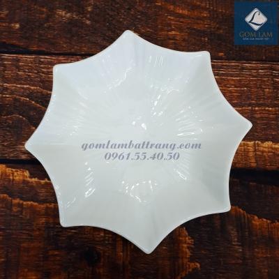 Đĩa sao sứ trắng cao cấp P18