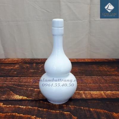 Nậm rượu sứ trắng cao cấp 350ml
