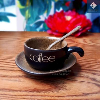 Cốc tách cà phê men da lươn