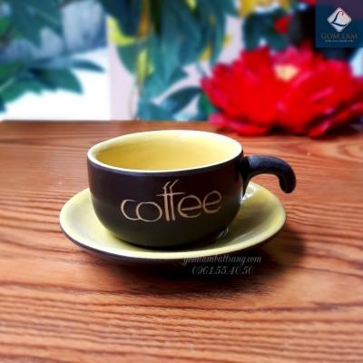 Cốc tách cà phê màu vàng