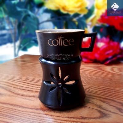 Bộ bếp đun cà phê vuốt tay loe