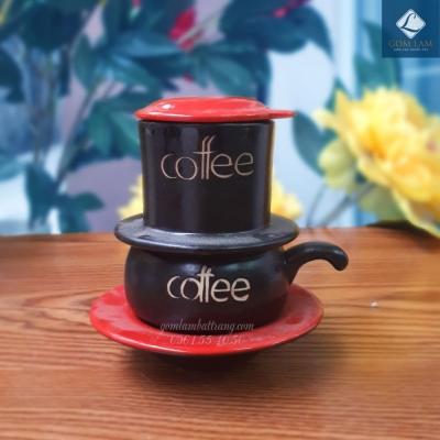 Phin cà phê da lươn nắp đỏ
