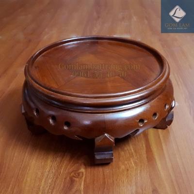 Đế bát hương gỗ hương cao phi 22 cm