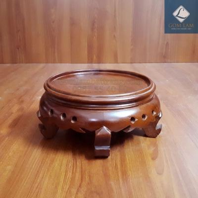 Đế bát hương gỗ hương cao phi 20 cm