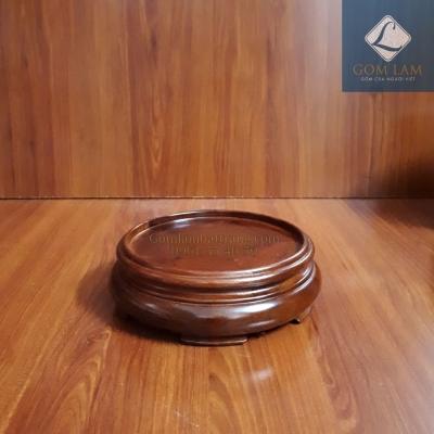 Đế bát hương gỗ hương thấp phi 22 cm