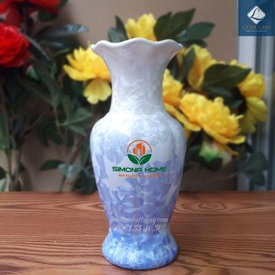 Lọ hoa Men kết tinh Lộc Bình in Logo