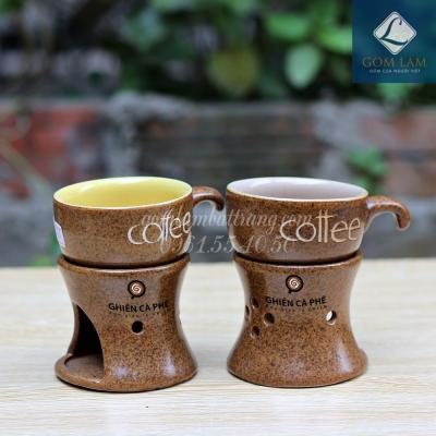 Bếp đun Cà phê in Logo