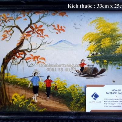 Tranh vẽ Đồng Quê Sông Nước ( 33 x 25)