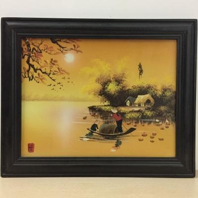Tranh sứ Hoàng Hôn (47x38)