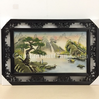 Tranh sứ Sơn Thuỷ (78x53)