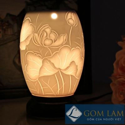 Đèn xông tinh dầu khắc xoài S1 mẫu 3